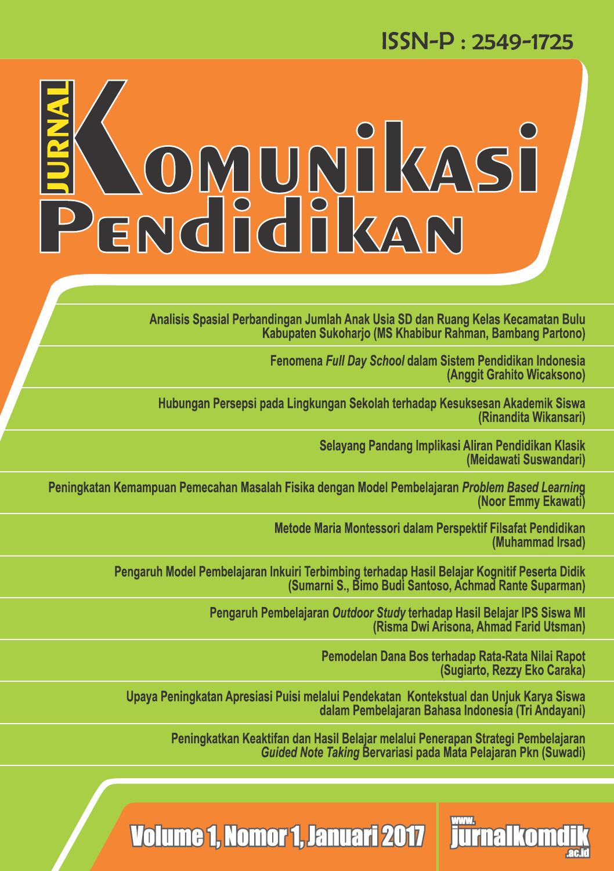 Jurnal Komunikasi Pendidikan